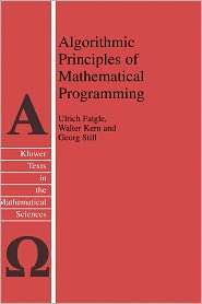 Algorithmic Principles of Mathematical Programming, (140200852X), U