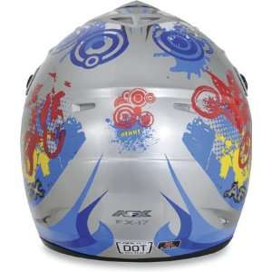 AFX FX 17Y Youth Helmet Stunt Full Face Blue Small Sports