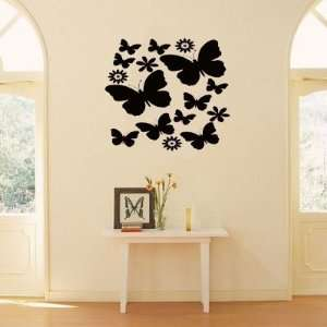 Butterflies and Flowers Vinyl Wall Art Decal Sticker 22