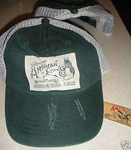 American Living Ball Cap Hat Baseball Green Mesh NWT
