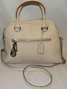Kors Joan Knox Satchel Bag Purse Handbag Vanilla Leather
