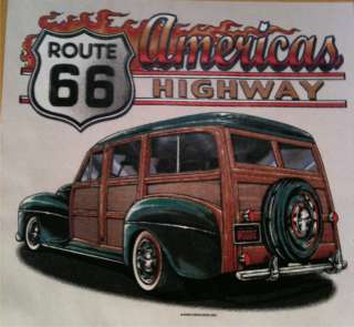 AMERICAS HIGHWAY RT 66 HOT ROD SHIRT T SHIRT GIFT8L/DM