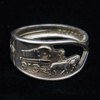 Sterling Spoon Ring Death Valley CA Covered Wagon size