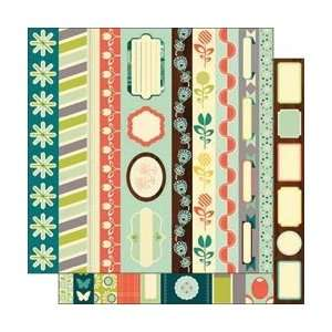 Social Club Double Sided Borders 12X12 Sheet ; 25 Items/Order: Arts