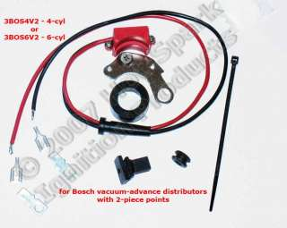 or 3BOS4V2 electronic ignition conversion kit for early Bosch vacuum