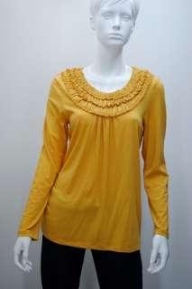 C0147 V03 NEW STYLE & CO WOMENS LONG SLEEVE BLOUSE HONEY TOP XL