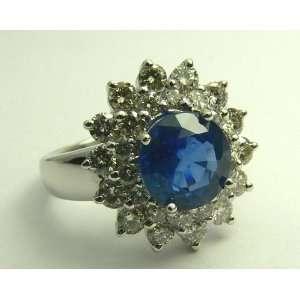 Impressive Royal Blue Sapphire & Diamond Ring Everything