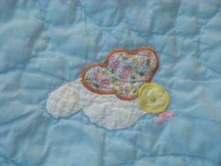 HOT AIR BALLOON FESTIVAL SUNSHINE GINGHAM COTTON VINTAGE LOVELY BABY