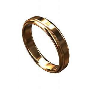 Solid 14K Pink Gold Classic Wedding Band P&P Luxury Jewelry
