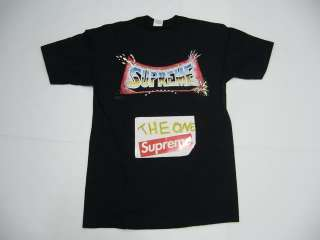 Supreme Pedro Bell Blockbuster Box Logo Black M Tee