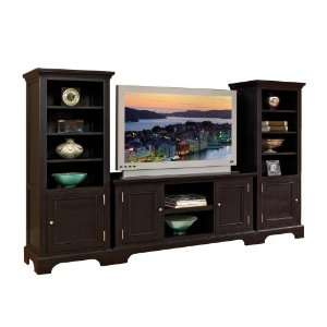 MODERN BLACK LARGE TV ENTERTAINMENT CENTER WALL LIVING ROOM FURNITURE