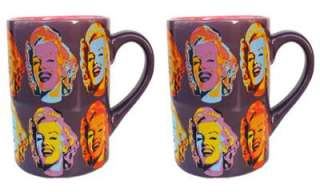 lot of 2 Marilyn Monroe Warhol Coffee Mug New Authentic