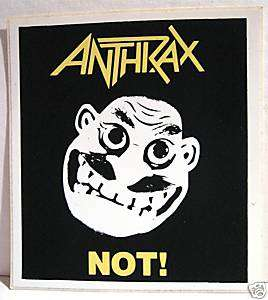 Anthrax Not Rock Band Concert Sticker Old Store Stock