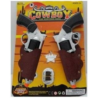 Wild West Cowboy Toy Colt Pistol Guns In Holster And