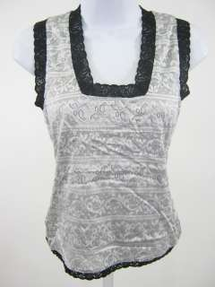 NICOLE MILLER Black Lace Metallic Sweater Set Outfit P