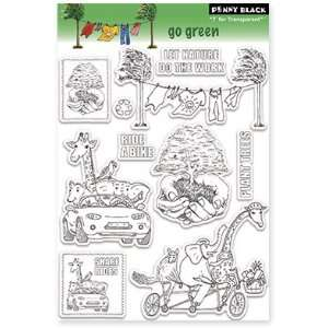 Penny Black Clear Stamps 5X7.5 Sheet Go Green Arts, Crafts & Sewing
