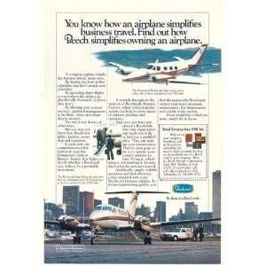 1981 Beechcraft Duke & Super King Air Airplane Print Ad