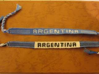 COUNTRY FLAG WRISTBAND FRIENDSHIP BRACELET, ARGENTINA