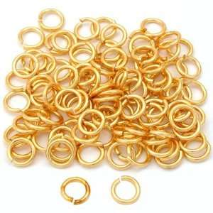 100 Gold Plated Open Jump Rings Connectors Findings 7mm