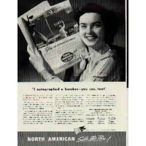 can too B 25 Mitchell  1943 North American Aviation ad, A1146