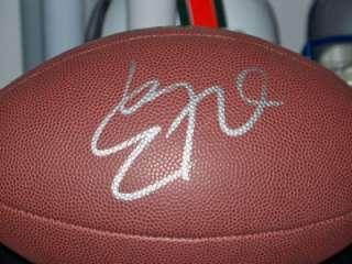Eddie George Signed Auto Football COA Tenn Titans OSU