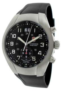 Victorinox Swiss Army Mens ST2500 Date Watch Black Dial Black Rubber