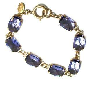 Catherine Popesco 14K Gold Plated Multi Faceted Tanzanite