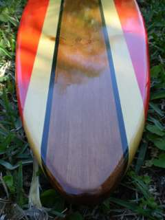 Red Classic Surfboard Tropical Wall Art Solid Wood Vintage Home Decor