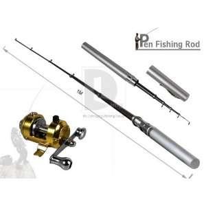 Mini Pocket Pen Fishing Rod Pole Reel Line Set