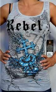 Rebel Spirit Womens TRUE LOVE Sleeveless Tank Top   GTK221   NEW