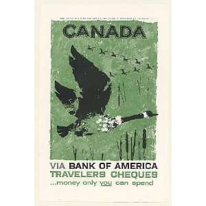 Canadian Geese art Bank of America Print Ad (50561) Home & Kitchen
