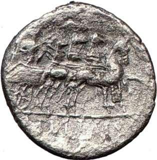 Roman Republic L. Manlius Torquatos 82BC SULLA in CHARIOT Ancient