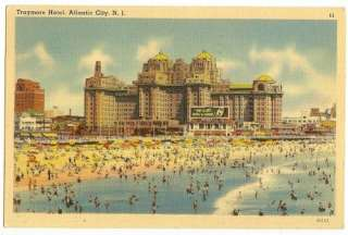 TRAYMORE HOTEL, ATLANTIC CITY, NEW JERSEY, NJ   c. 1940