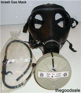 Military Gas Mask & Two Nato NBC 40mm Canisters w/ DRINKING TUBES