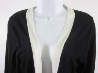 AUGUST SILK Black White Long Sleeve Cardigan Sz L