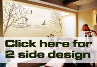Sticker Mural Removable Winter branches birds tree DC02882L