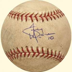 Tony LaRussa Signed Game Used Baseball Cardinals at Mets