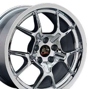 GT4 Style Wheel Fits Mustang (R)   Chrome 18x9 Automotive