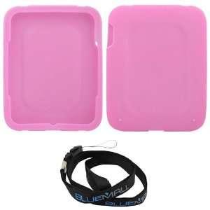 GTMax Premium Hot Pink Soft Silicone Skin Cover Case + Neck Strap
