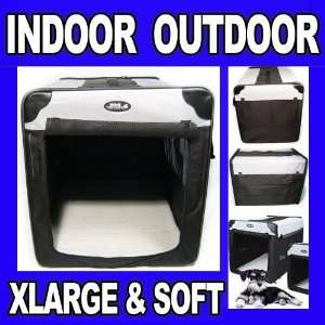 Portable Pet Dog House Soft Crate Carrier Cage Kennel Bed