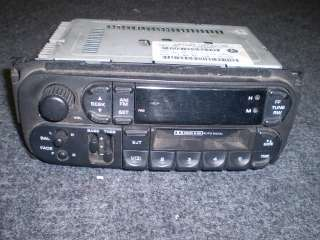 Chrysler Dodge Caravan radio stereo tape deck OEM neon