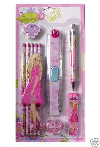 brand new cute Barbie Girl School Supplies   Stationery