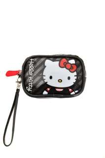 New Hot Topic Hello Kitty Vinyl Sequin Carryall wristlet wallet purse