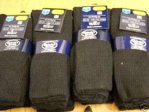 12 pair Mens Cotton over the calf diabetic sock shoe size 8 12 black