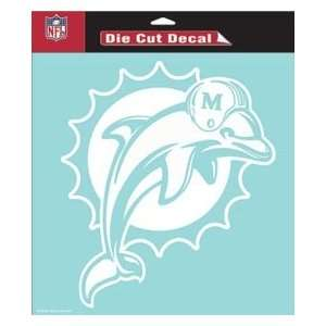 Miami Dolphins 8x8 Die Cut Decal