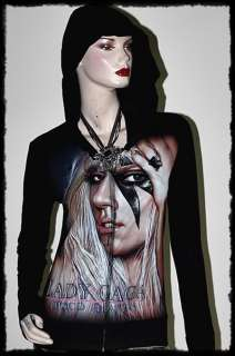 Lady GaGa Metal Punk Rock DIY Slim Fit Hoodie Top