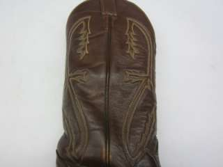 VINTAGE~TONY LAMA BRAND LADIES~BROWN~LEATHER~ WESTERN ~BOOTS~Sz 6 A