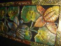 Golden Lotus Hand Carved Wood architectural panel~Bali Wall Art