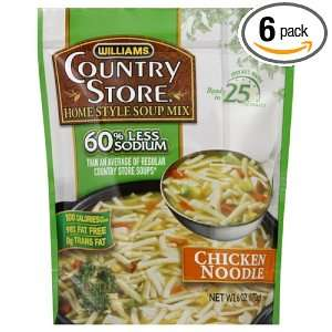 Country Store Soup, Reduced Sodium, Chicken Noodle, 6 Ounce (Pack of 6