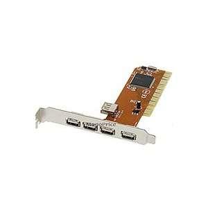 NEC 5 PORT USB 2.0 PCI CARD ADAPTER (4 external ports plus